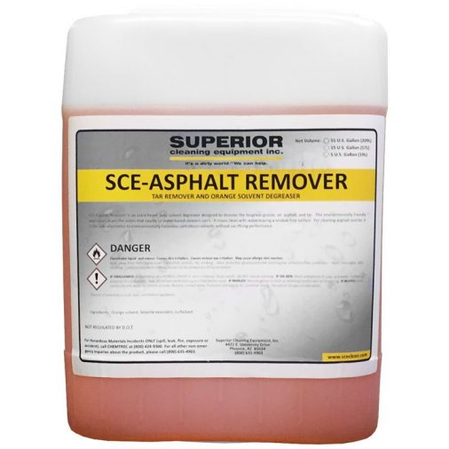 SCE Asphalt Remover Chemical, Pressure Washers, Tar, Asphalt, Grease Removal