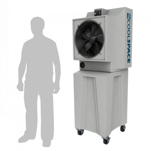 """Coolspace Glacier, 18"""" Fan, Tall Base, Variable Speed Portable Evaporative Cooler"""