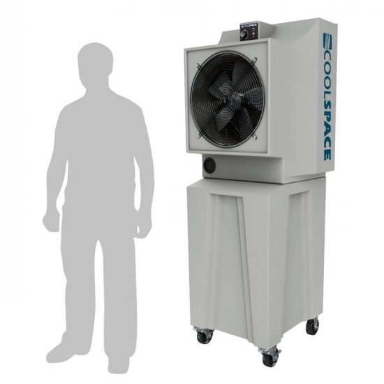 "Coolspace Glacier, 18"" Fan, Tall Base, Variable Speed Portable Evaporative Cooler"