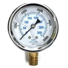 Stainless Steel Pressure Gauge, Brass