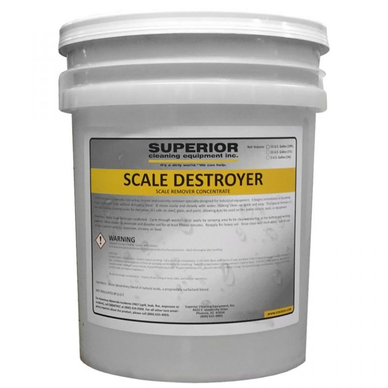 SCE Scale Destroyer, Scale and Concrete Remover Chemical, Soap, Detergent, for Pressure Washers