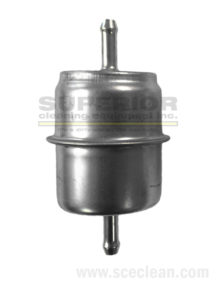 "Fuel Filter, 1/4"" In/Out, Metal"