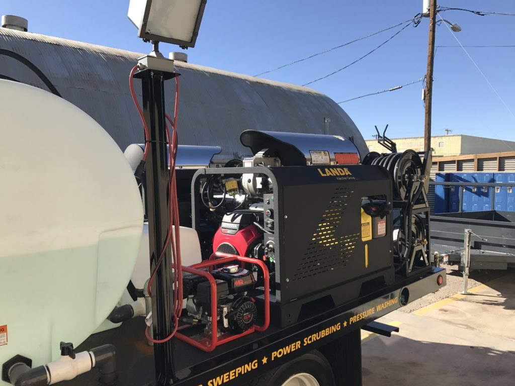 Pressure Washer On Flatbed Truck System Custom Made Systems