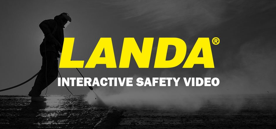 Landa interactive safety video for pressure washers