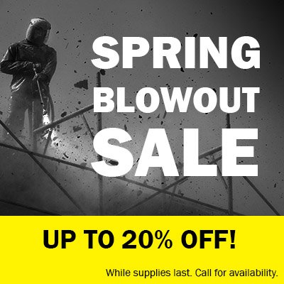 Spring pressure washer blowout sale