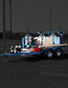 Used Tandem Axle Trailer w/ Dual Pressure Washer