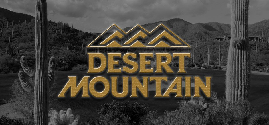 Desert Mountain Golf Club Logo with dark background image