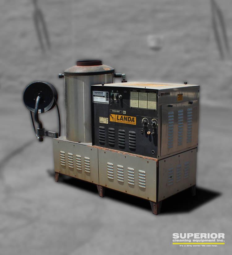 Used Landa Vhg4 30024h Stationary Hot Water Pressure Washer