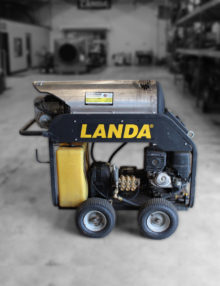 Used Landa MHC4, model MHC4-35324E, Hot Water, Gasoline Powered Pressure Washer for Sale