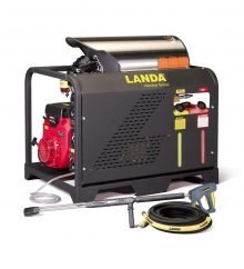 Landa PGHW Series - Hot Water, Gasoline powered, Diesel/Oil Heated, Skid pressure washer