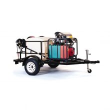 Landa TR-3500 - Single Axle, 3300 Load Capacity, 200 Gallon Water Tank Pressure Washer Trailer