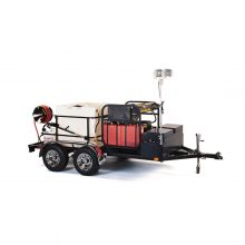 Landa TR-6000 Tandem Axle Trailer, Diesel or Gasoline Powered, Diesel/Oil Heated pressure washer trailer