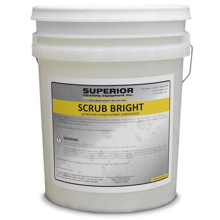 SCE Scrub Bright, pH Neutral Floor Cleaner Concentrate