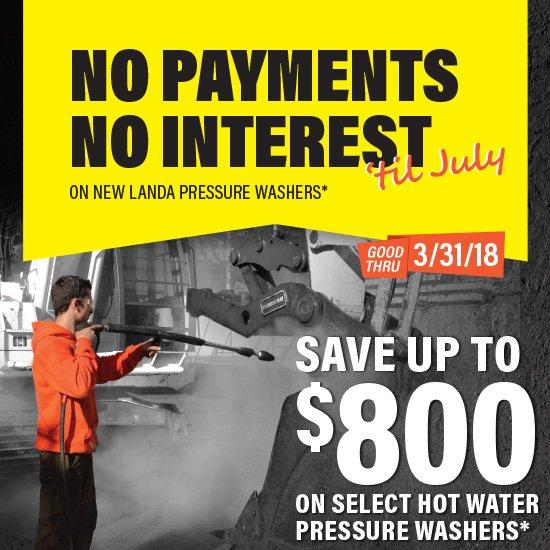 Landa Spring Promo - No Payments, No Interest Til July 2018