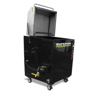 """SCE TLS-21 - Top Load Parts Washer with Caster Wheels, 21"""" turntable diameter, 250 lbs. weight capacity, 15"""" inside working height"""
