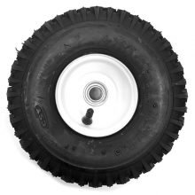 "10"" White Steel Rim, 3/4"" Hub Tubeless Tire - 480115, 8.712-762.0"