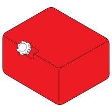 6 Gallon, Poly Fuel Tank, Red, MPG - 2-011541, 8.706-627.0