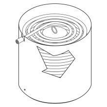 """Landa ENG, VNG, NG, VHG heating coil, new style, after 1999, 18"""" diameter, 9.803-135.0"""