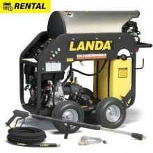 Hot Water Pressure Washer Rental, Portable Landa MHC, 3500 PSI, Gas Powered, Diesel Burner
