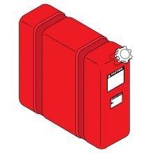 Landa 10 Gallon, Red Fuel Tank, 2-011503, 8.706-606.0