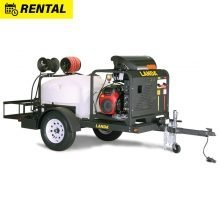 Landa TRV 3500 For Rent, Hot Water, Pressure Washer Trailer with 200 Gallon Water Tank