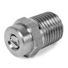 "M Style 1/4"" MPT Threaded nozzle, 5000 PSI, stainless steel"