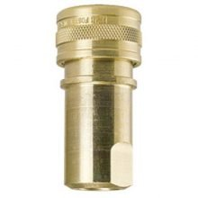 "Coupler Socket, Double Shut-off, 1/4"" FPT brass, 8.756-043.0"