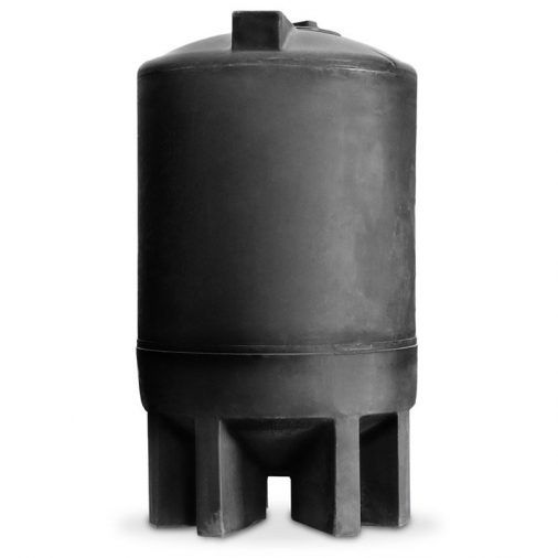 Black, Cone Bottom, 500 Gallon Water Tank for Water Treatment Systems