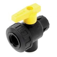 Three Way Ball Valves, 3-way, Poly, 150 PSI