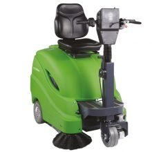 Ride On Floor Sweeper, Green, Single Brush
