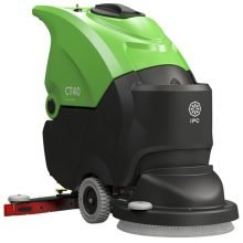 Walk Behind Floor Scrubber for Rent, Push, Green, Single Spinning Brush