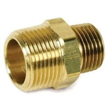Hex Reducing Nipples, Brass