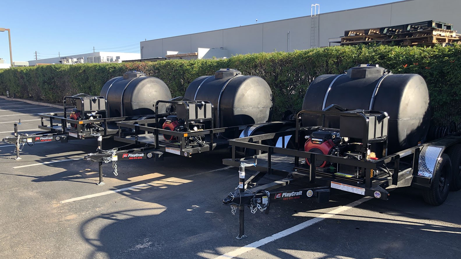 3 Pressure Washer Trailers Custom Made by Superior Cleaning Equipment in San Diego