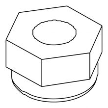 Hex Nut, 10-32 SS NYLOCK, 8.627-099.0
