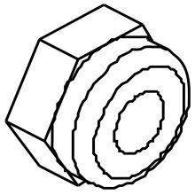 nut, acorn, ss, 6-32 8.601-481.0