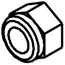 Nut, 1/4-20 HEX, 8.600-581.0