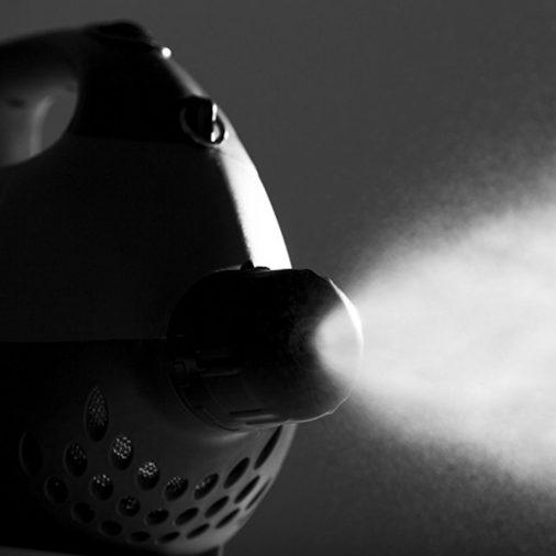 Vectorfog Fogger, Spraying Image, Black and White