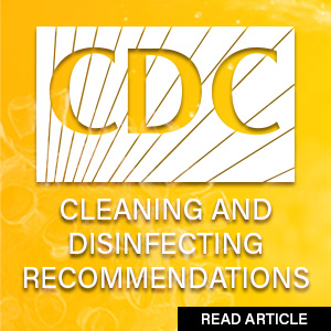 CDC recommendations for cleaning