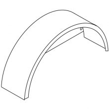 """Replacement Fender, Back, 15"""", 8.917-304.0"""