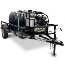 Pressure Washer Trailer, Hot Water, 3500 PSI, 225 Gallon Water Tank, Angled View