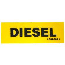 Diesel Sticker, Yellow, Black, 8.932-960.0