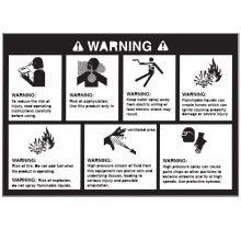 Replacement Warning Sticker, Karcher, 9.800-041.0, 11-1043