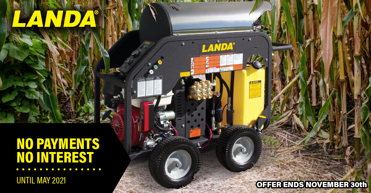 Landa Harvest The Savings Promotion, Sale on Pressure Washer Systems