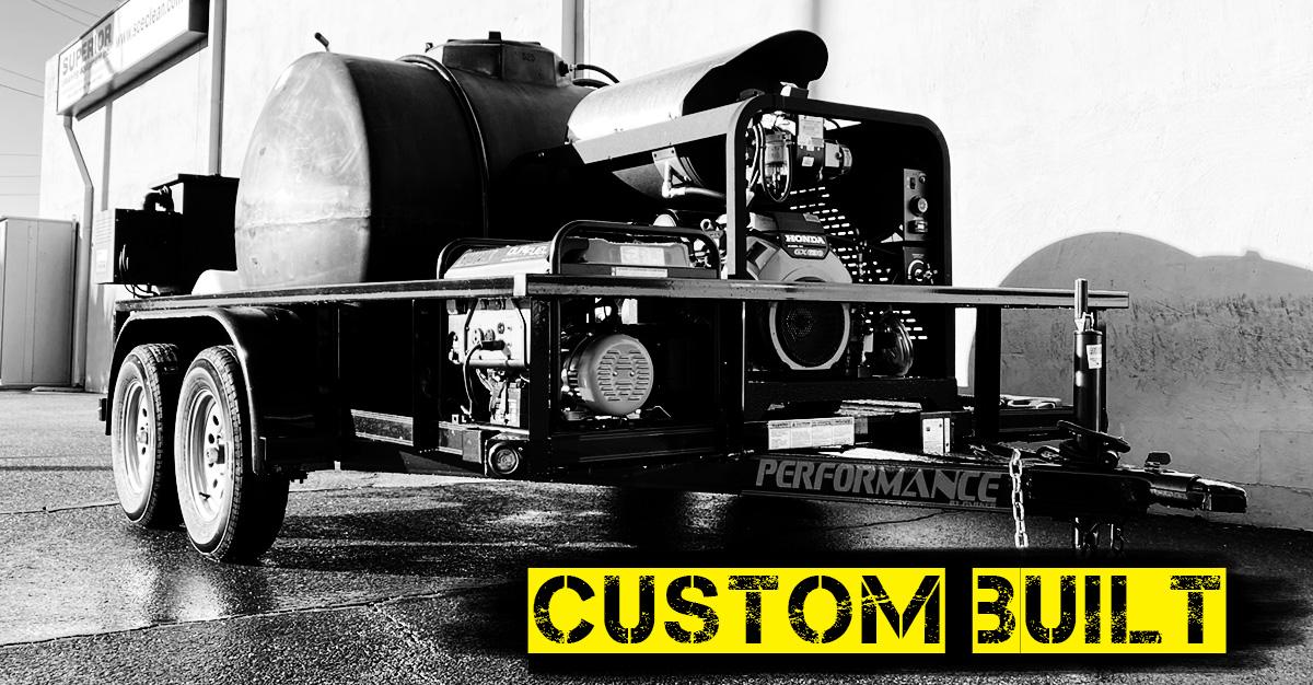 Custom Designed and Built Pressure Washer Trailer, Affiliated Building Maintenance