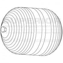 Black Plastic Float Valve Ball, 8.706-512.0