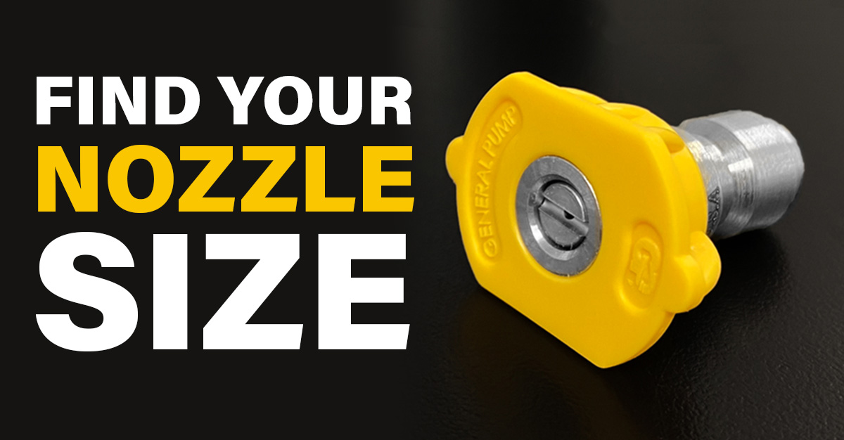 Find your pressure washer nozzle size