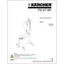 Karcher PS 4/7 BP Mister Operators Manual, Parts Breakdown