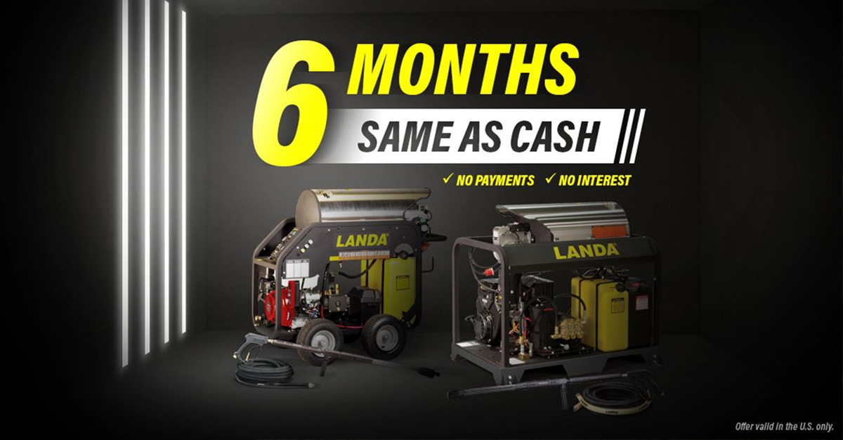 Landa Karcher 6 Months Same As Cash, Promo