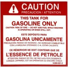 Label, This Tank For Gas Only, 9.800-001.0, 10-02011