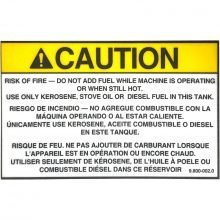 Sticker Label, Use Only Kerosene, 9.800-002.0, 10-020110, 646671